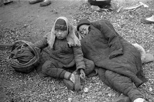 1942年触目惊心的河南大饥荒历史老照片