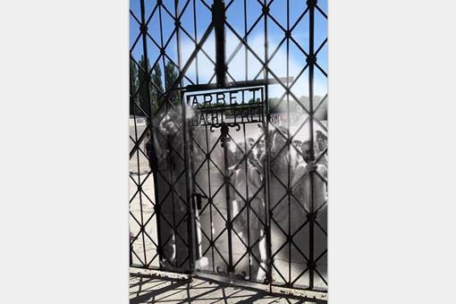 二战德国纳粹达豪集中营现在与过去的混合相片,认清真实的达豪集中营
