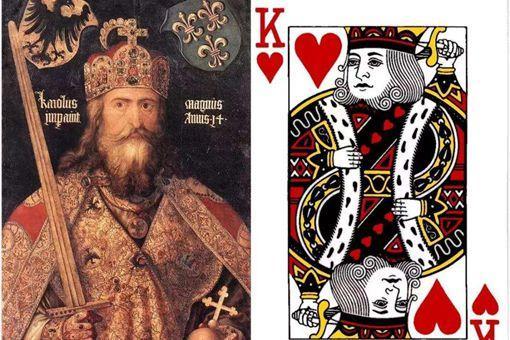 纸牌红桃K上画的是谁?为何被称为欧洲之父?